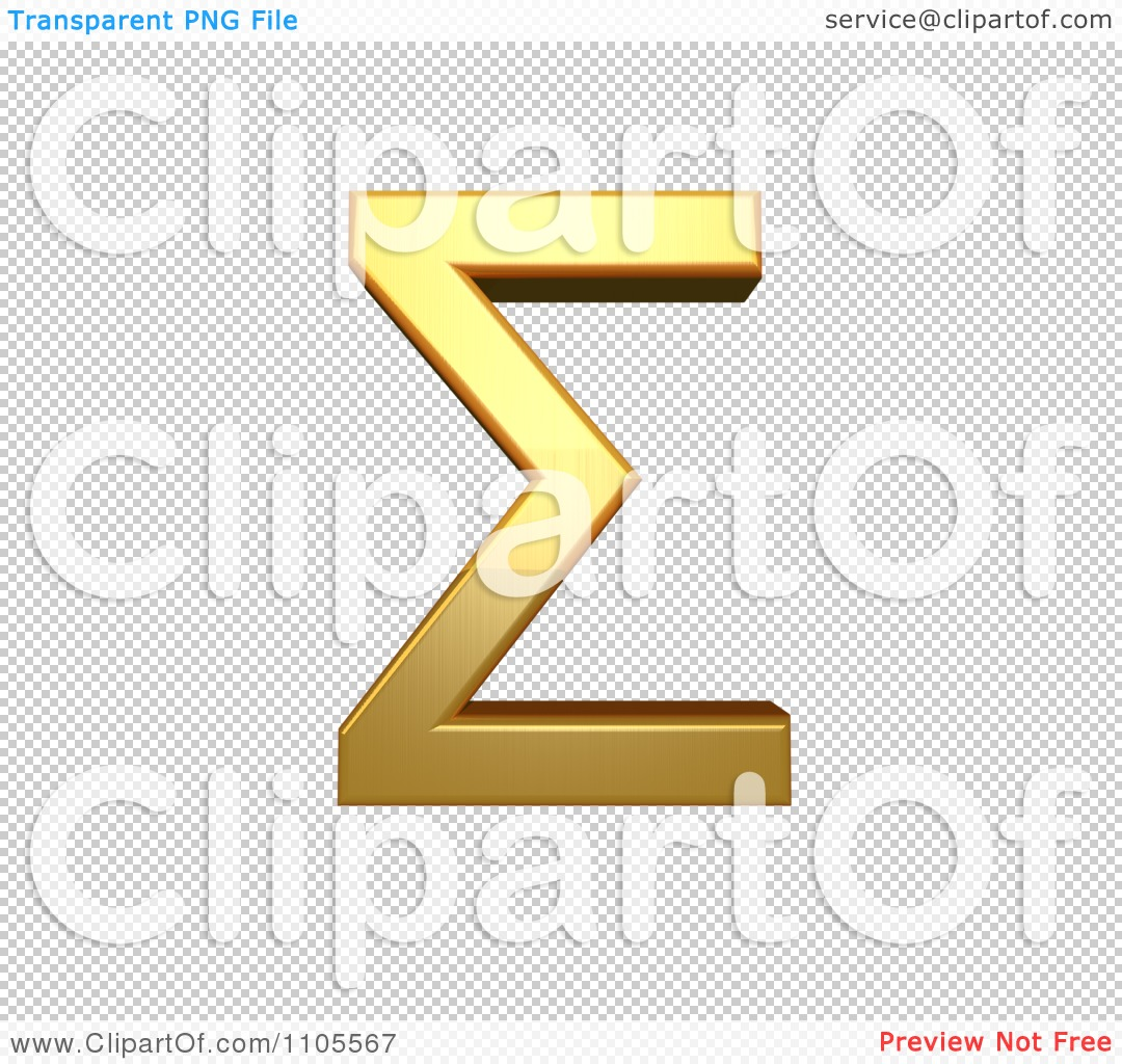 3d gold greek capital letter sigma clipart royalty free cgi png file has a biocorpaavc Choice Image