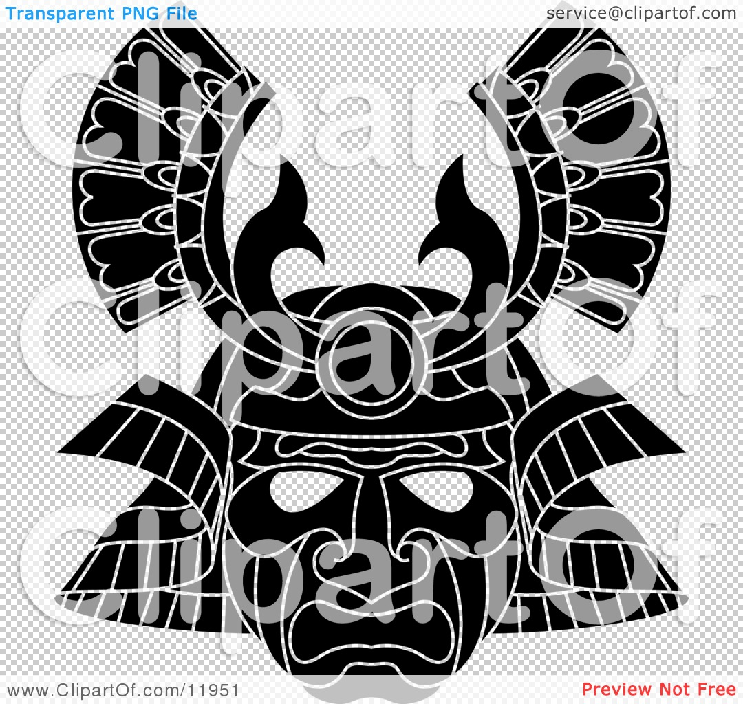 Asian Samurai Warrior Mask Clipart Illustration by ...