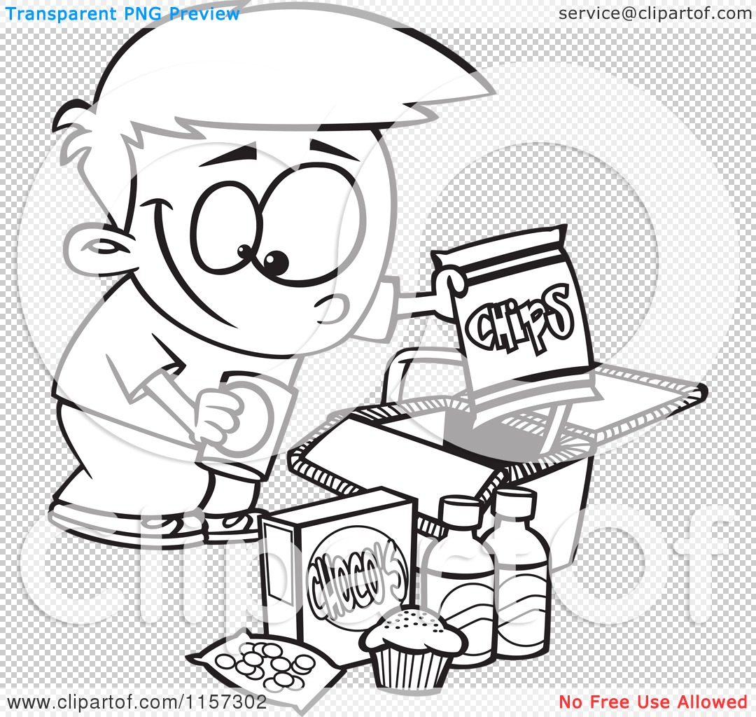 Eating Junk Foods Drawing Png File Has a