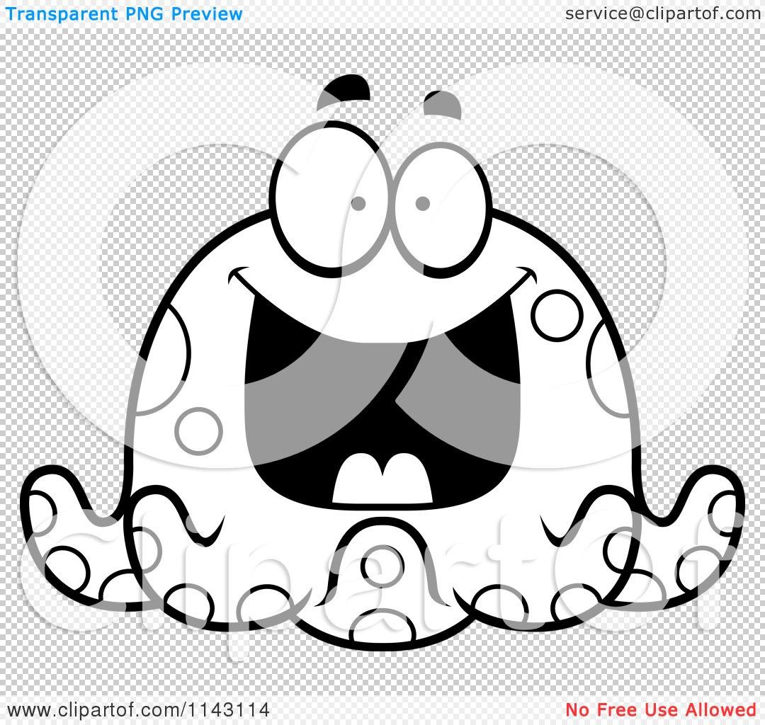 Cute Cartoon Octopus Coloring Page