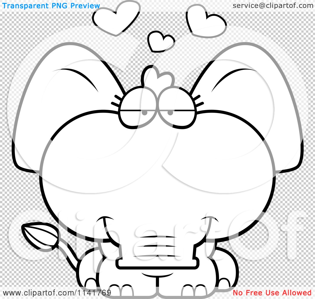 png file has a transparent background - Cute Baby Elephant Coloring Pages