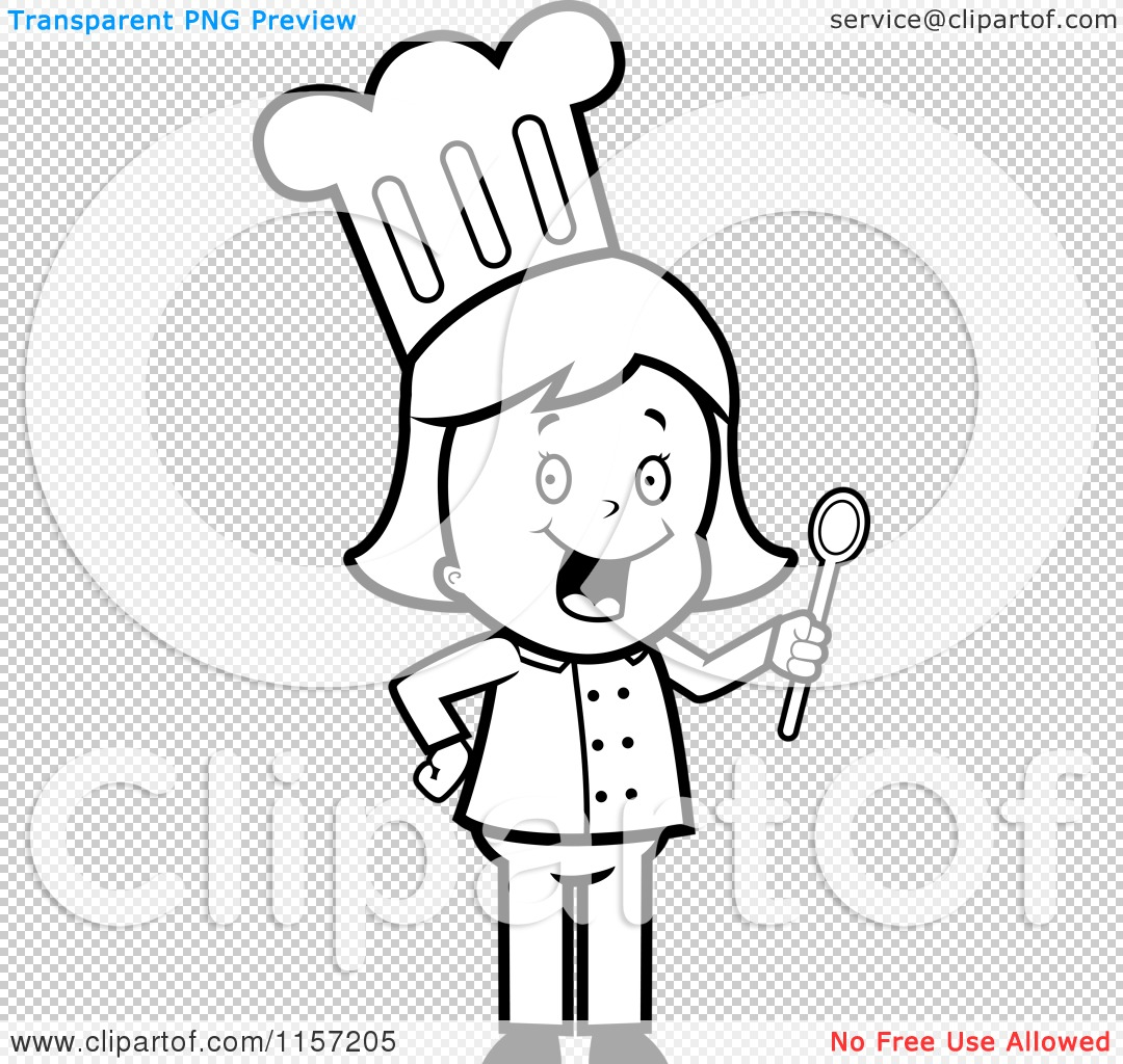 Chef Cooking Clip Art Coloring Coloring Pages