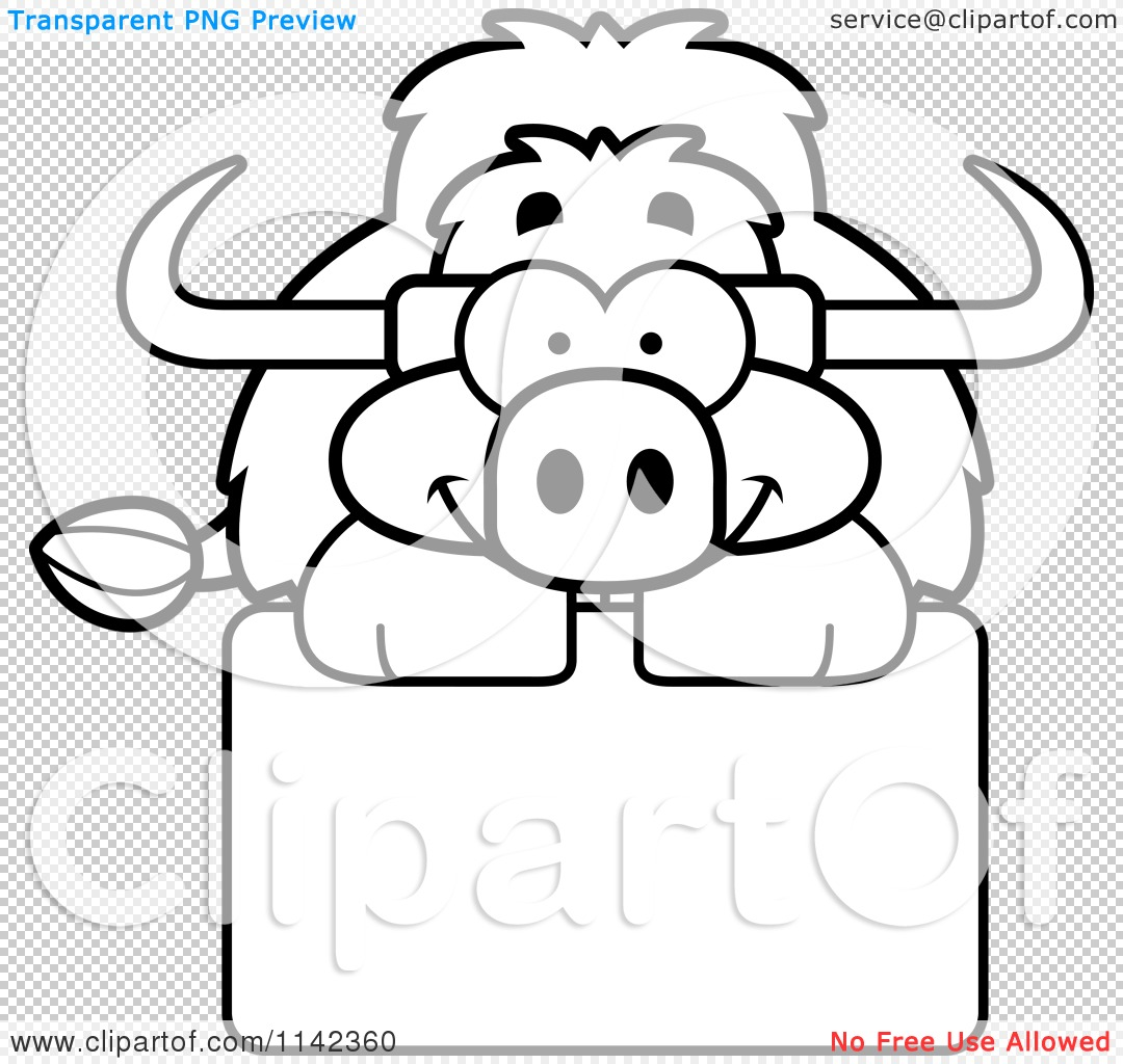 Free coloring pages yak - Png File Has A