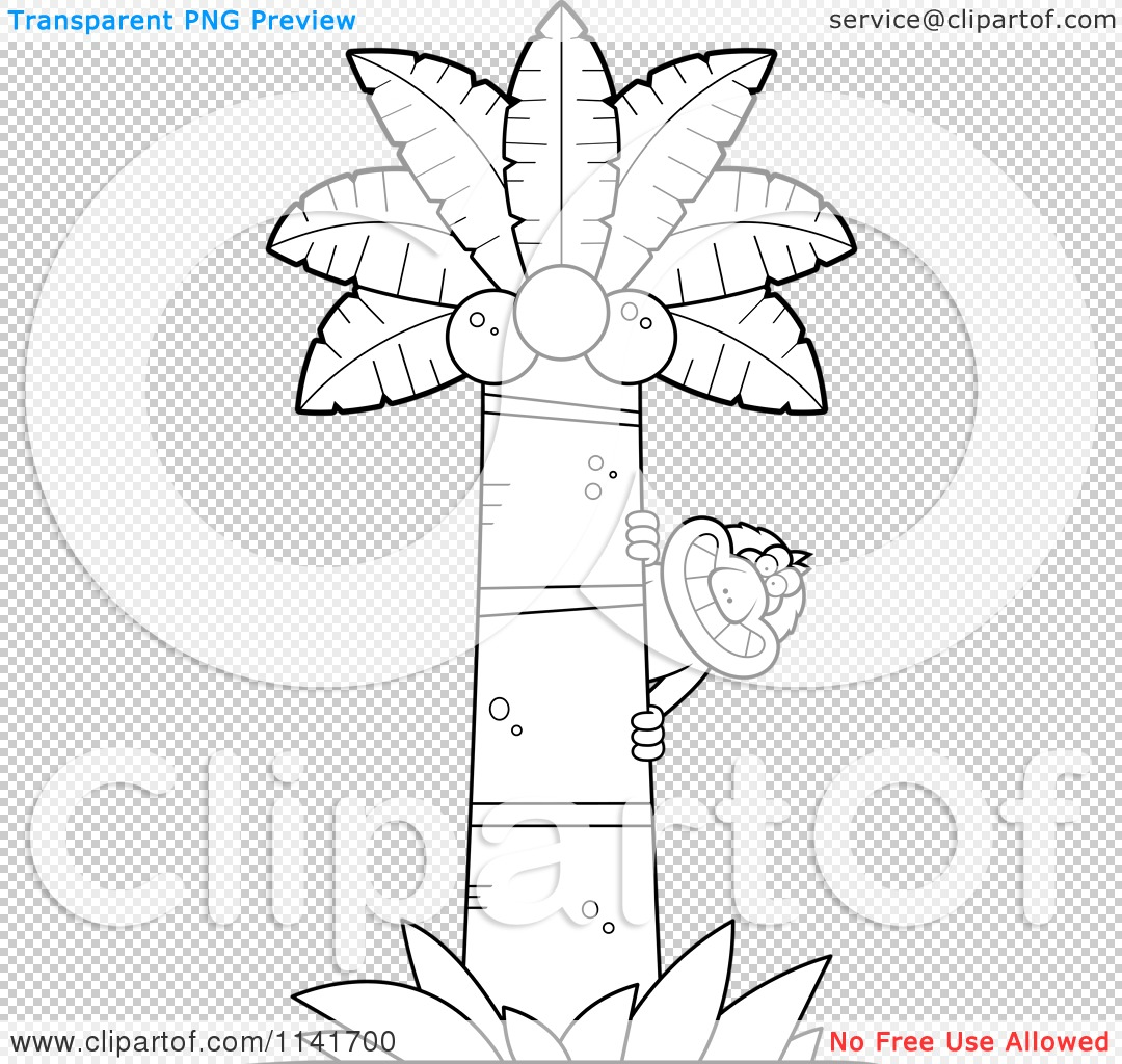 cartoon clipart of a black and white macaque monkey behind a