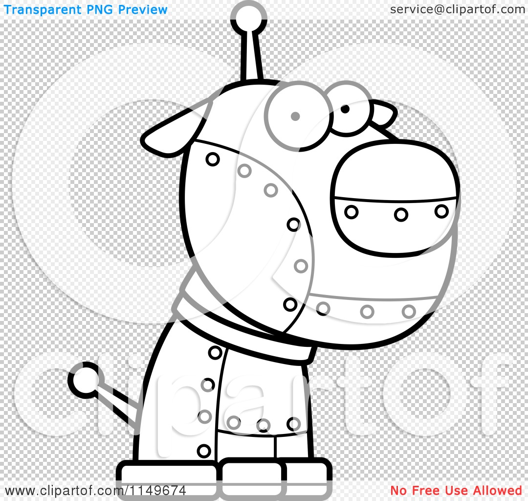 Robotic Dog Drawing Png File Has a