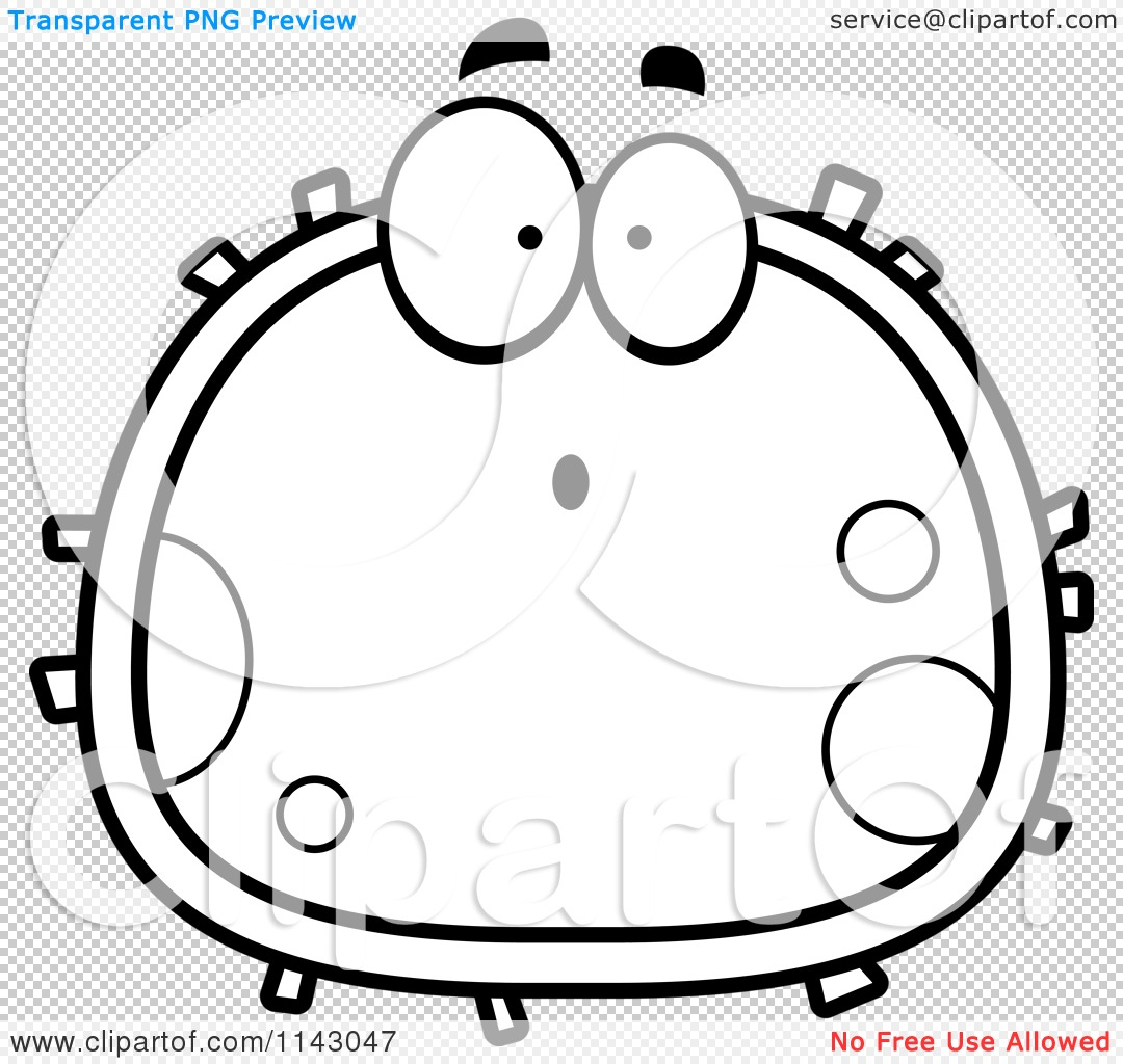 cartoon clipart of a black and white surprised blood cell. Black Bedroom Furniture Sets. Home Design Ideas