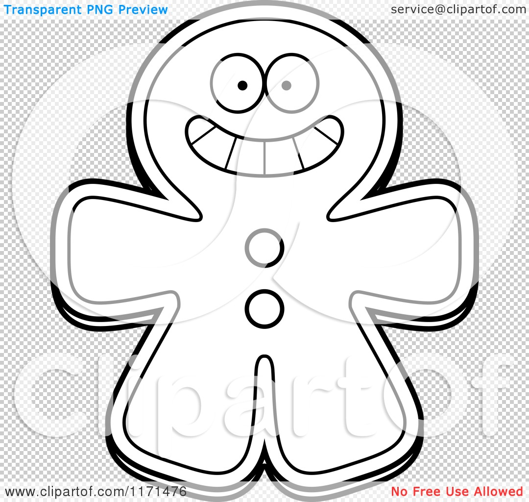 Cartoon-Clipart-Of-A-Grinning-Happy-Gingerbread-Man-Mascot-Vector-Outlined-Coloring-Page-10241171476
