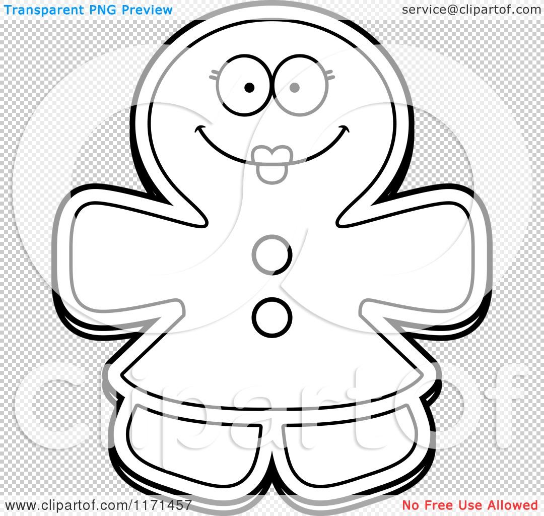 Cartoon Clipart Of A Happy Gingerbread Woman Mascot