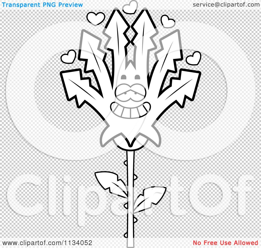 Cartoon Clipart Of An Outlined Marijuana Pot Leaf Mascot In Love ...