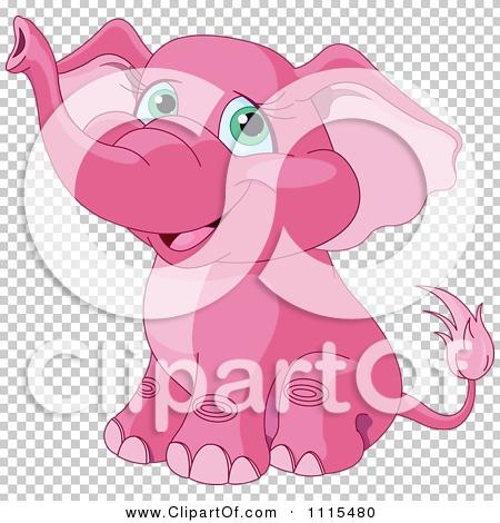 Cute pink elephant cartoon - photo#27