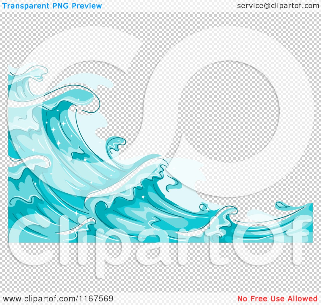 Cartoon Of A Background Blue Water And Splashing Waves