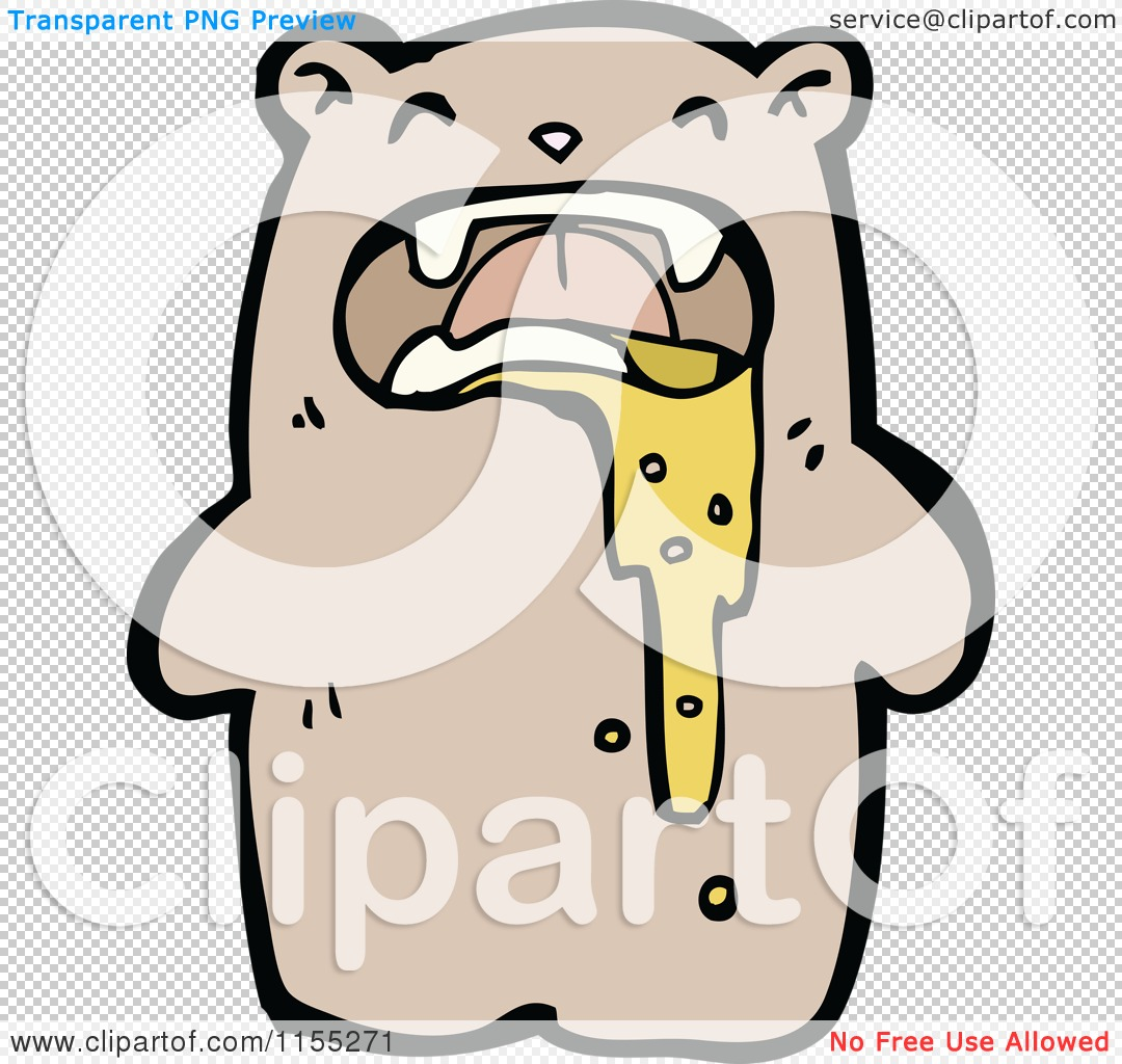 Cartoon of a Bear Puking - Royalty Free Vector Illustration by ...