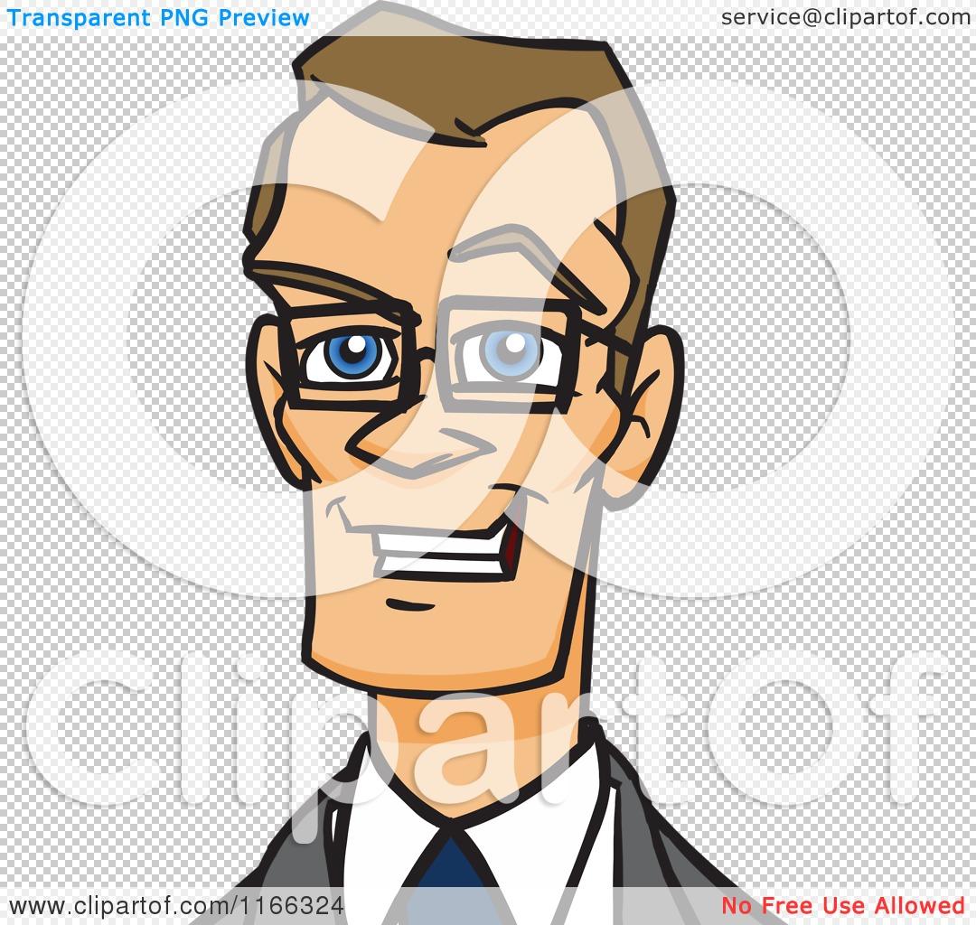 Cartoon Of A Bespectacled Business Man Avatar 2