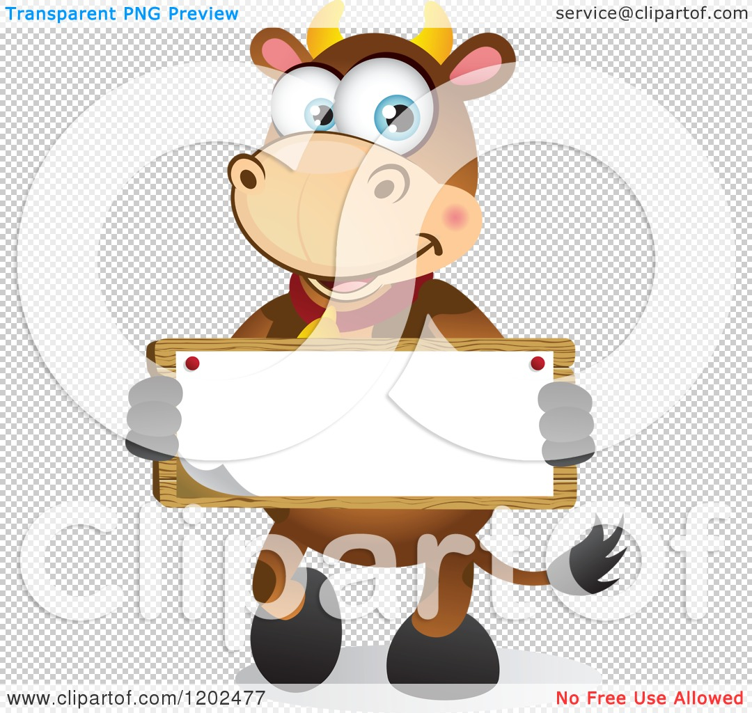 Cute Cartoon Cow With Big Eyes Of a big eyed brown cow