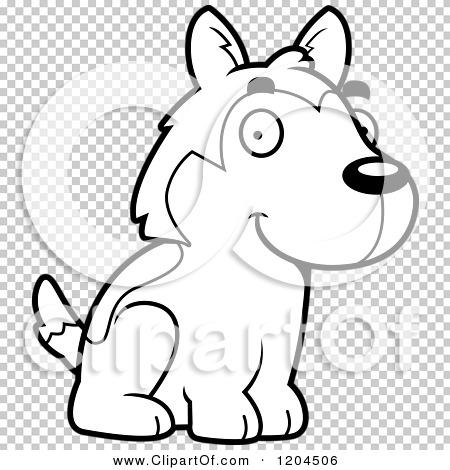 Cute Husky Puppy Cartoon And White Cute Husky Puppy