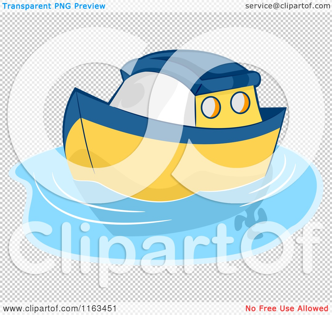 A Yellow Raft In Blue Water Quotes: Cartoon Of A Blue And Yellow Toy Boat On Water