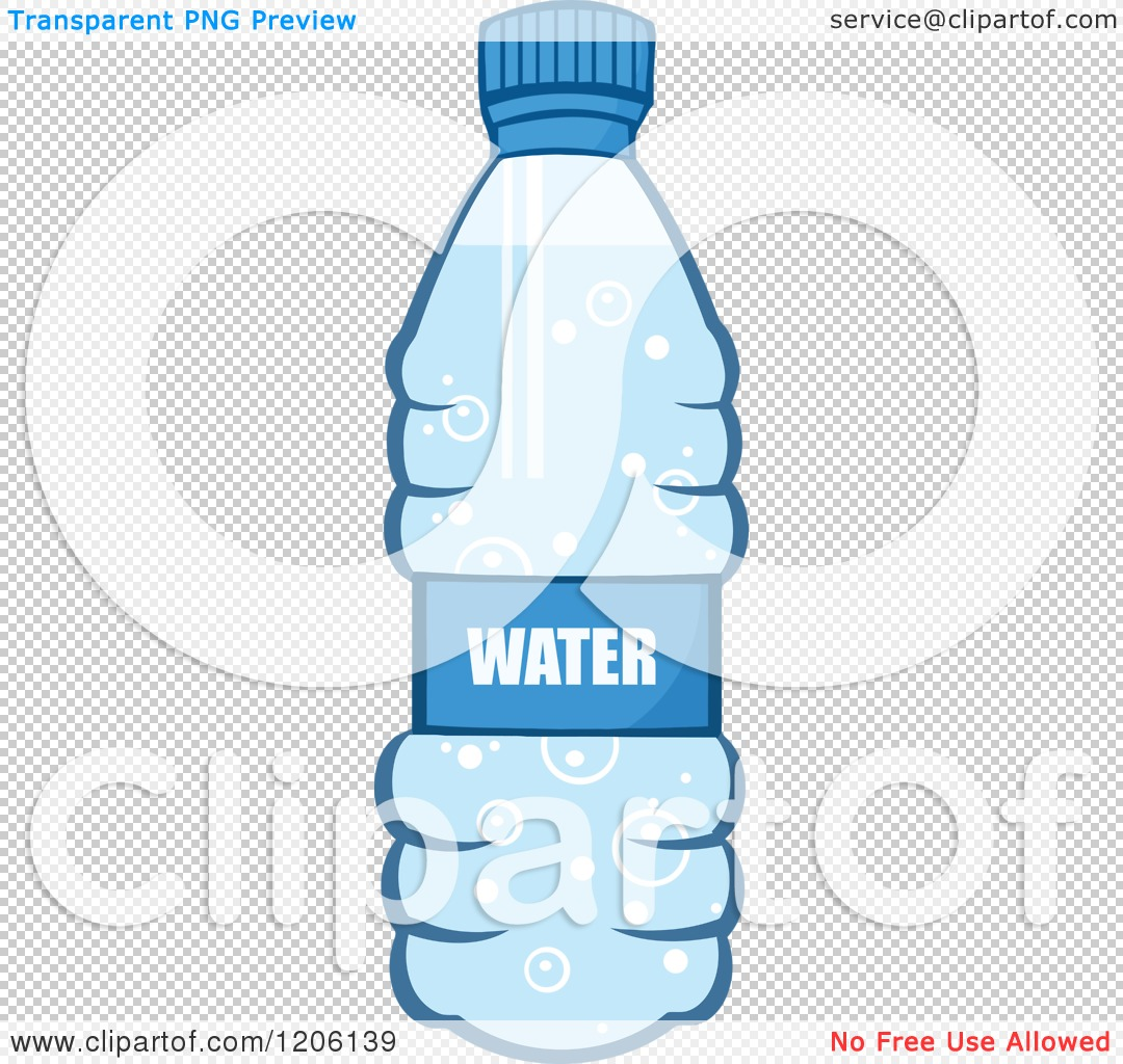 Cartoon of a Blue Water Bottle - Royalty Free Vector Clipart by ...