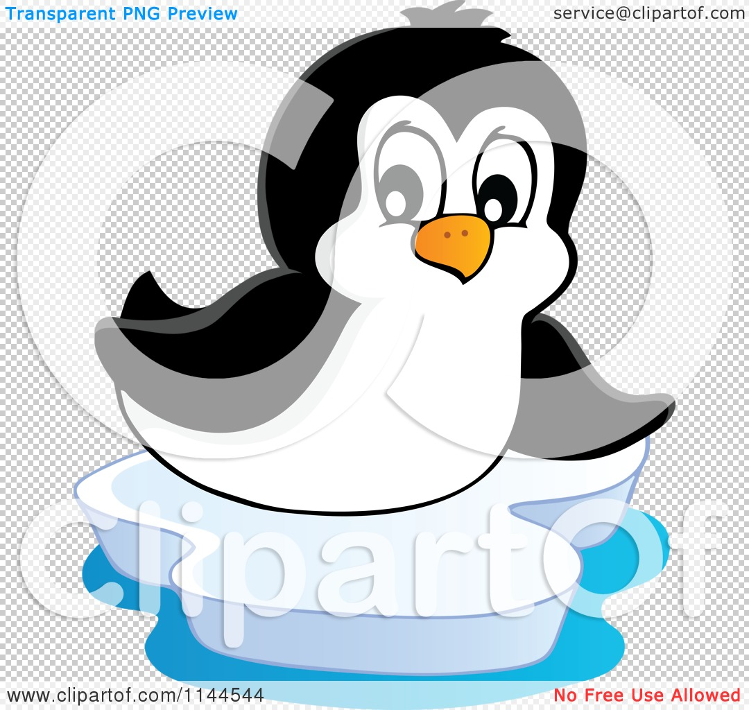 Cartoon of a cute little penguin sliding on an iceberg for Clipart iceberg