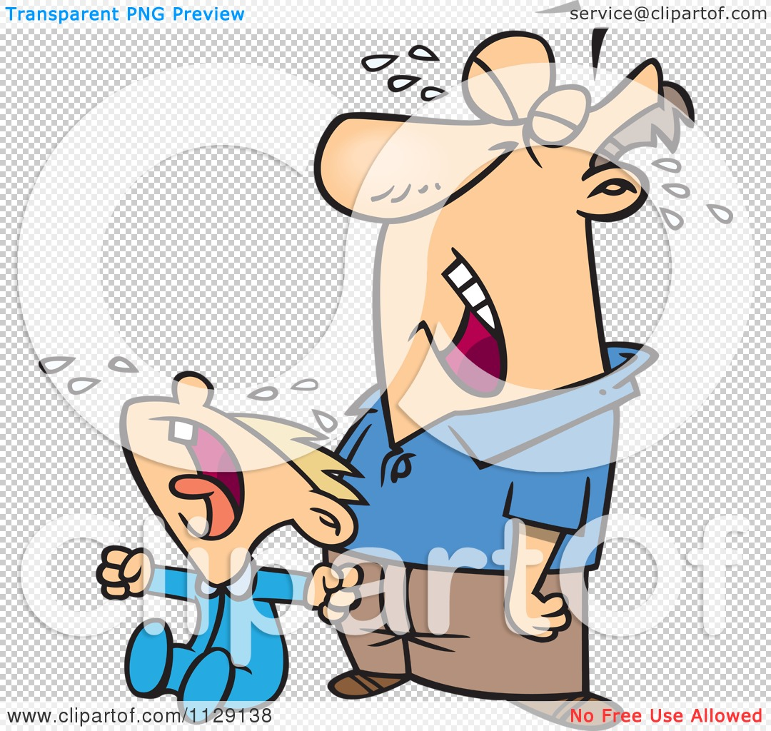 cartoon of a frustrated father crying with his son royalty free rh clipartof com father and son clipart free father and son clipart png