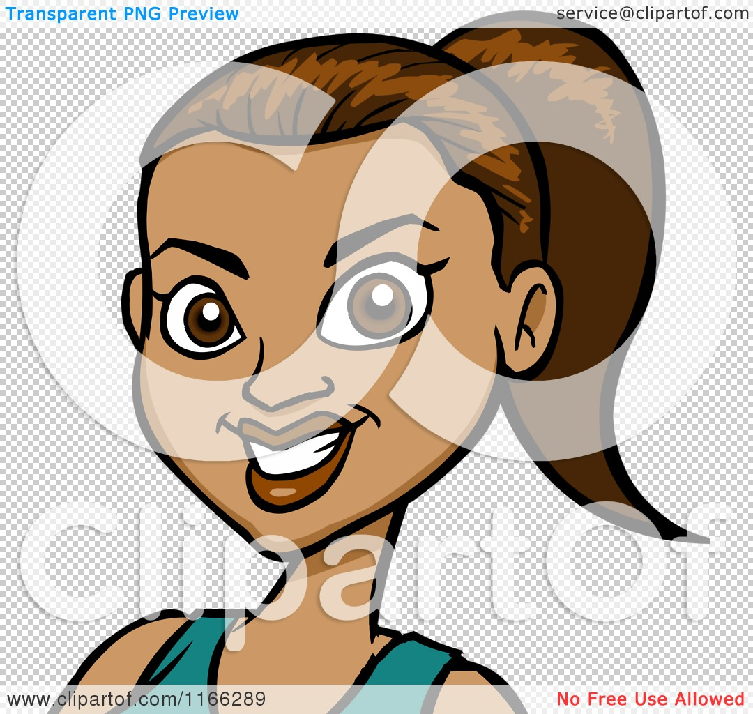 Cartoon of a hispanic woman avatar 2 royalty free vector clipart by