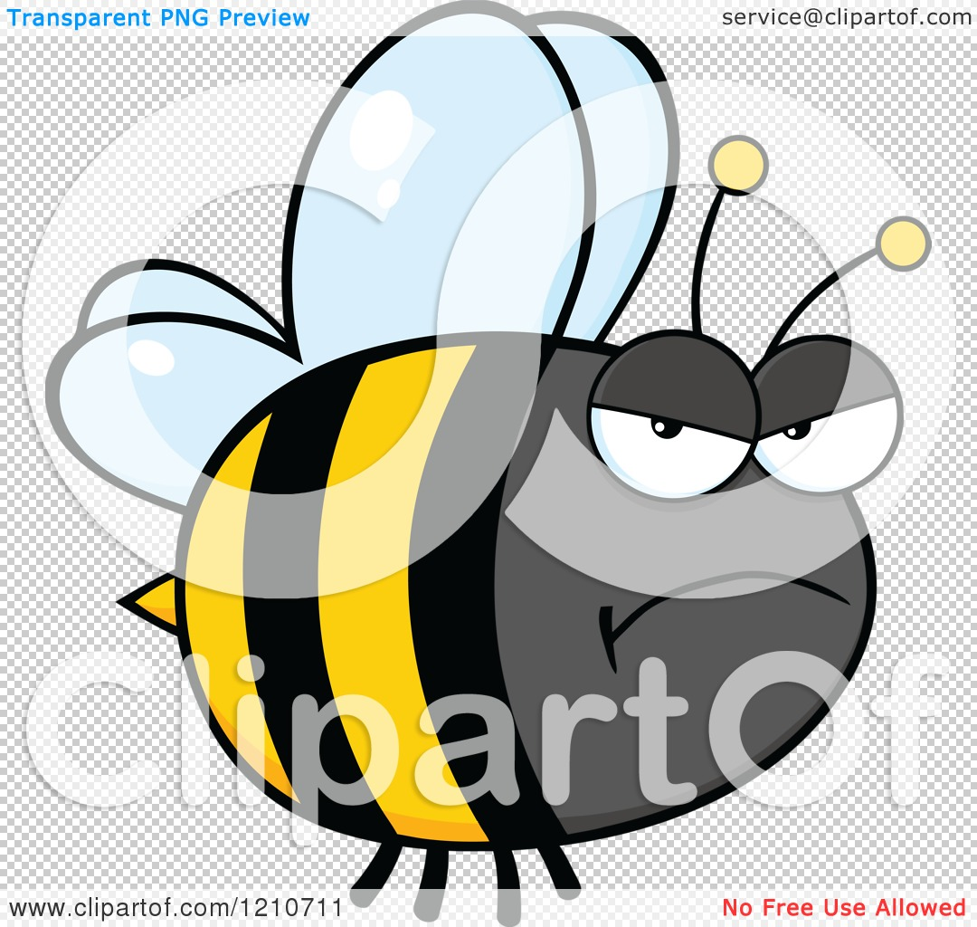 cartoon of a mad bumble bee royalty free vector clipart by hit