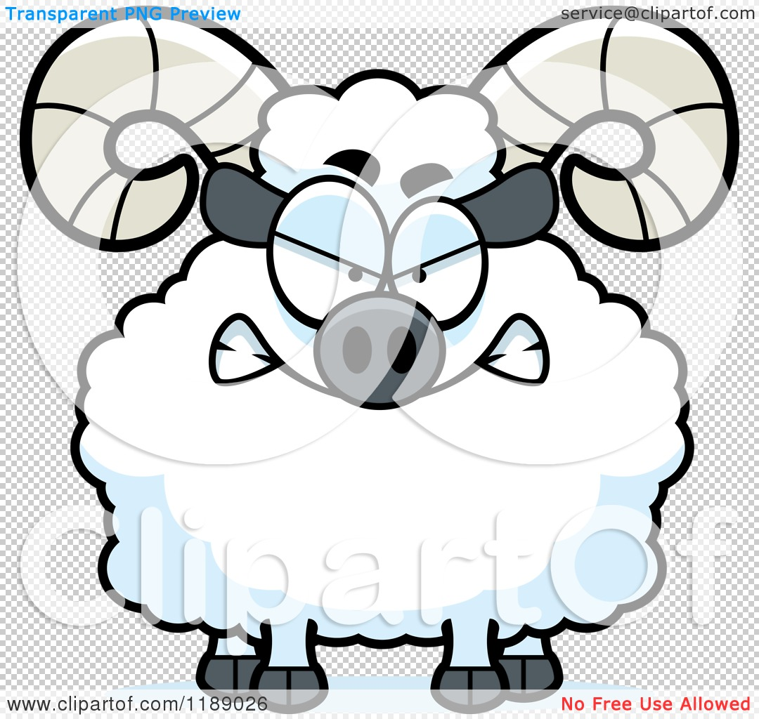 Cartoon of a Mad Ram Mascot - Royalty Free Vector Clipart by Cory ...