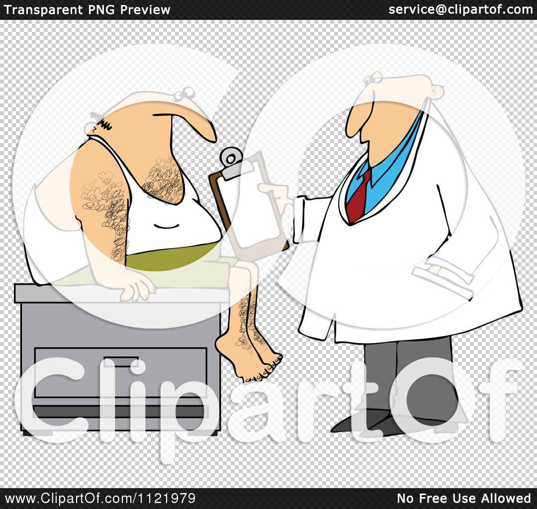 cartoon of a medical doctor examining a male patient caveman clipart with letter d caveman clipart free