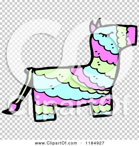 Cartoon of a Mexican Donkey Pinata - Royalty Free Vector ...