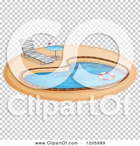 Cartoon of a poolside table and chair royalty free for Poolside table and chairs