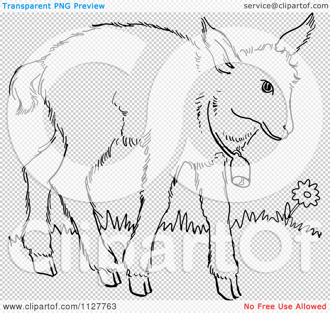 goat outline drawing