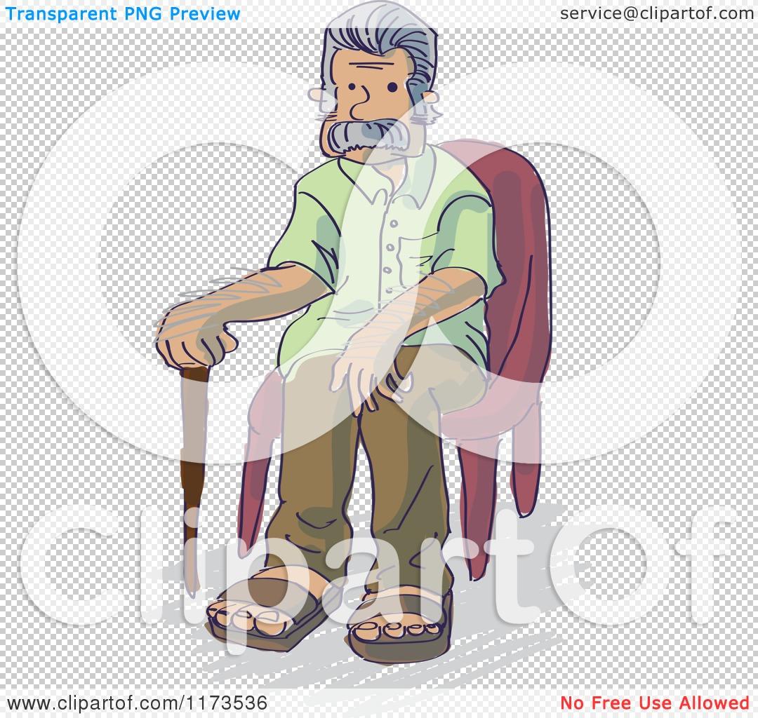 Grandpa In Wheelchair Clip Art Senior grandpa man sitting in a chair ...