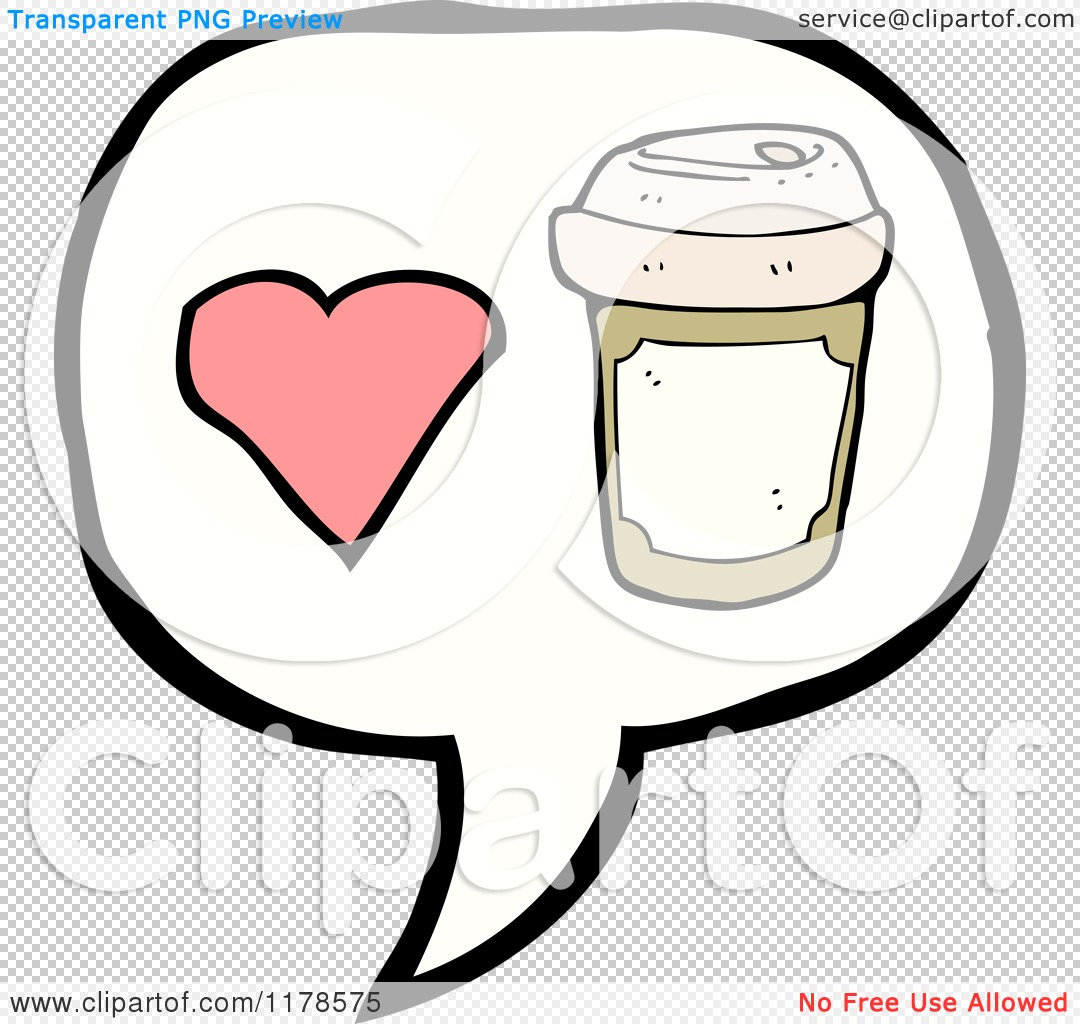 Cartoon Of A Styrofoam Coffee Cup In A Heart Conversation