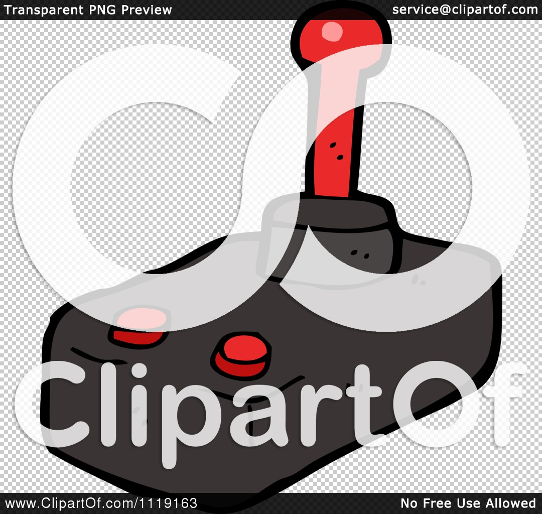 Cartoon Of A Video Game Joy Stick - Royalty Free Vector Clipart by ...