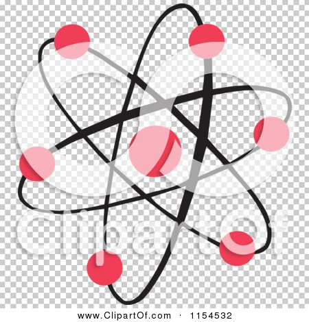 Cartoon of an Atom with Red Dots - Royalty Free Vector ...