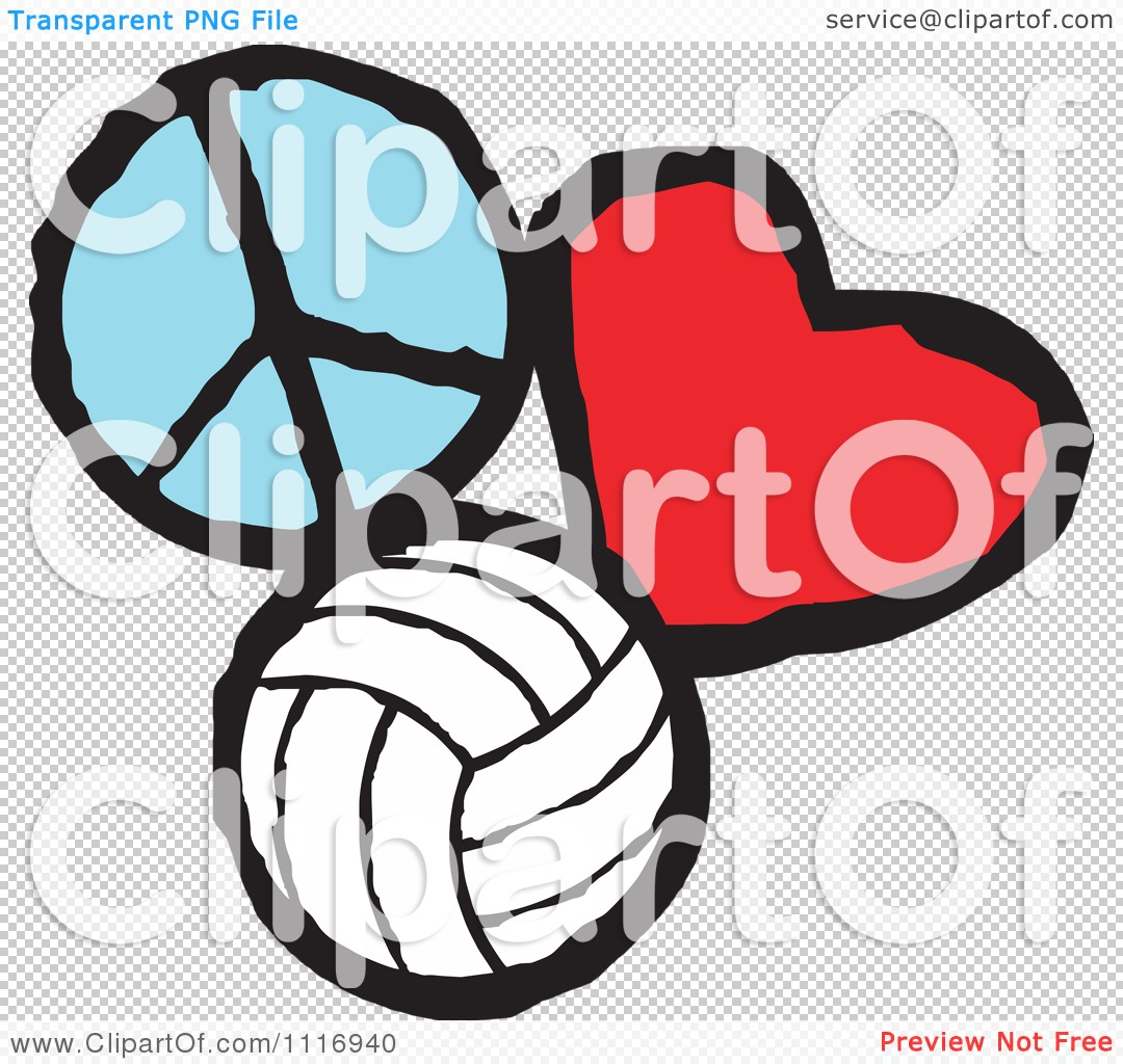Cartoon of peace love volleyball graphics royalty free for Free clipart animations