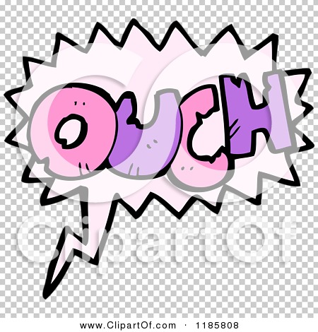 Cartoon of the Word Ouch in a Speaking Bubble - Royalty Free ...