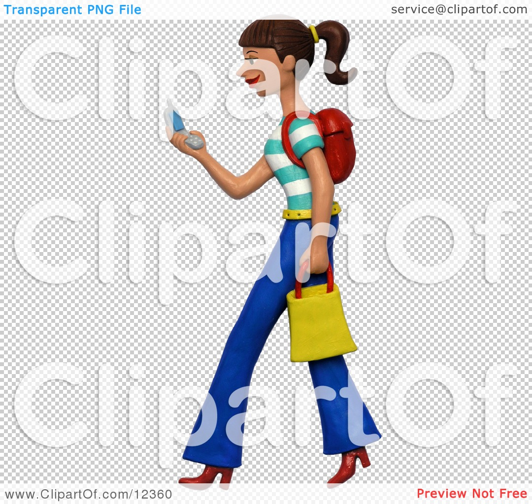 girl texting clipart - photo #39