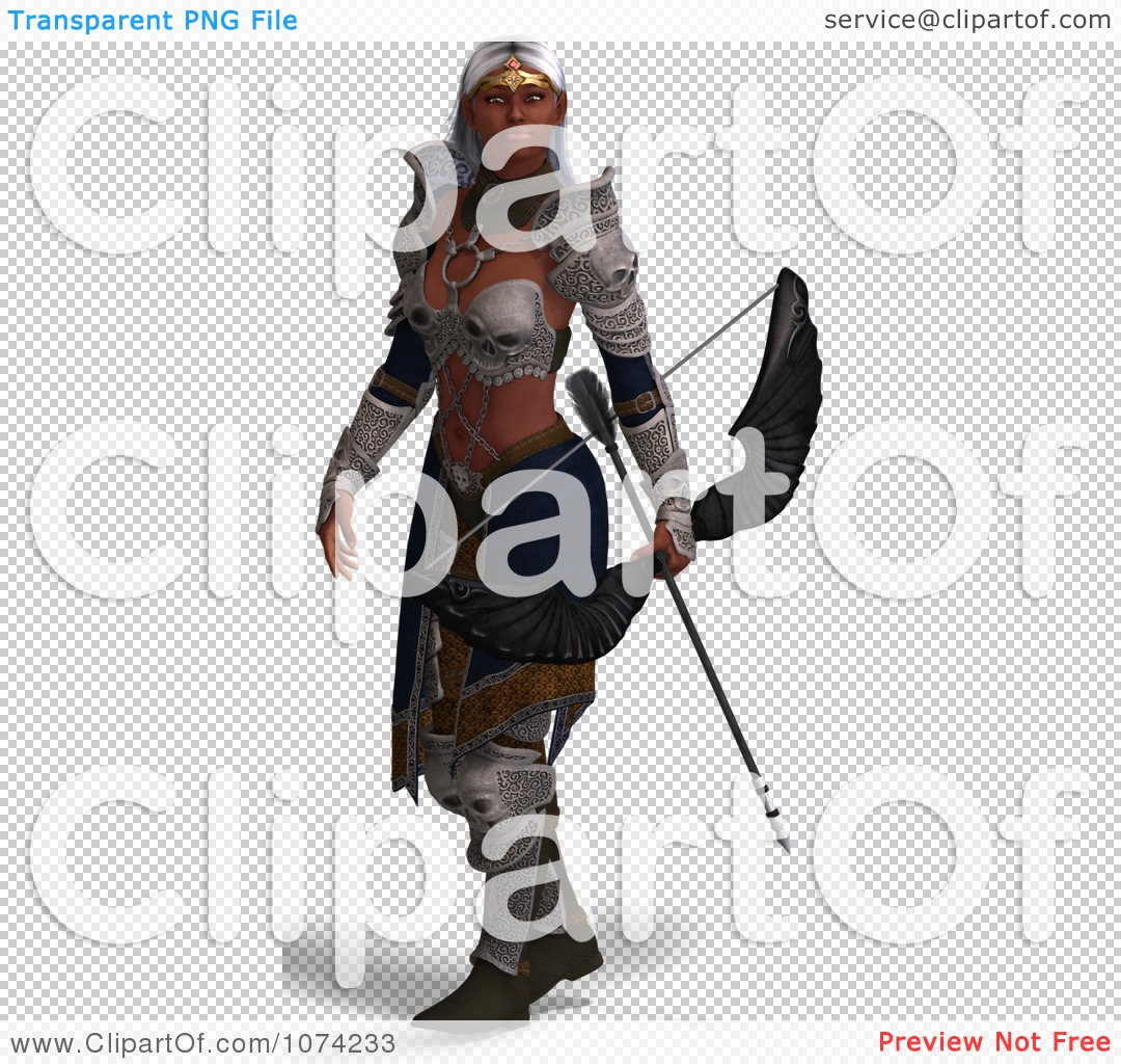 Clipart 3d Female Fantasy Archer Elf - Royalty Free CGI ...