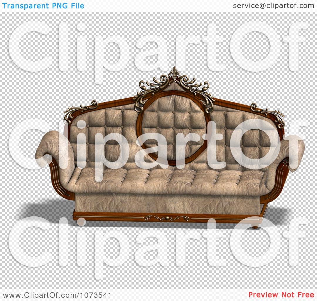 Clipart 3d Louis Xv Sofa 1 Royalty Free Cgi Illustration By Ralf61