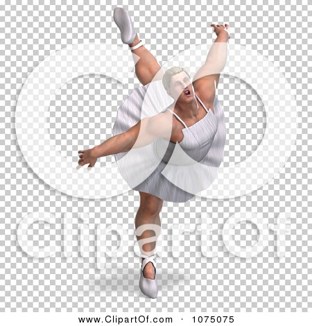 Clipart 3d Strong Male Ballerina In A Tutu 10 Royalty Free