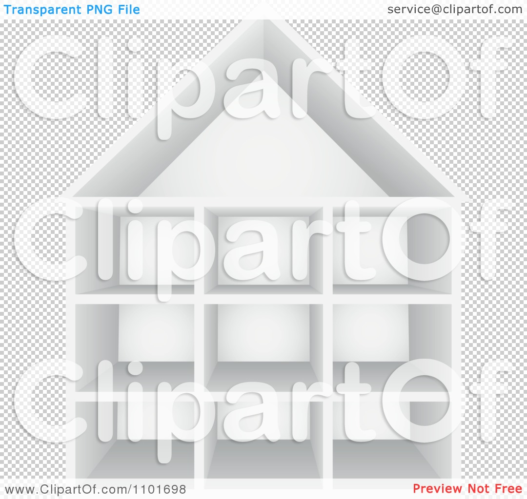 ... Cubby House With Storage Shelves - Royalty Free Vector Illustration