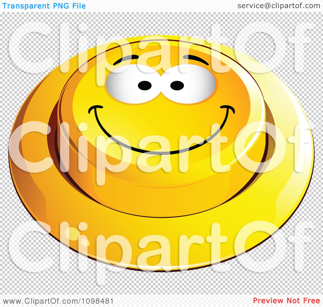 Clipart 3d Yellow Happy Button Smiley Emoticon Face 1 - Royalty ...