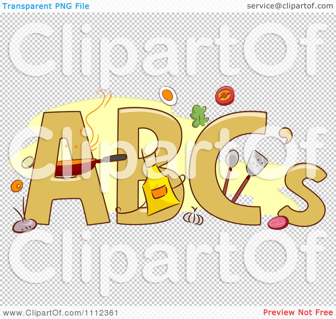 clipart abc letters food and cooking items royalty png file has a