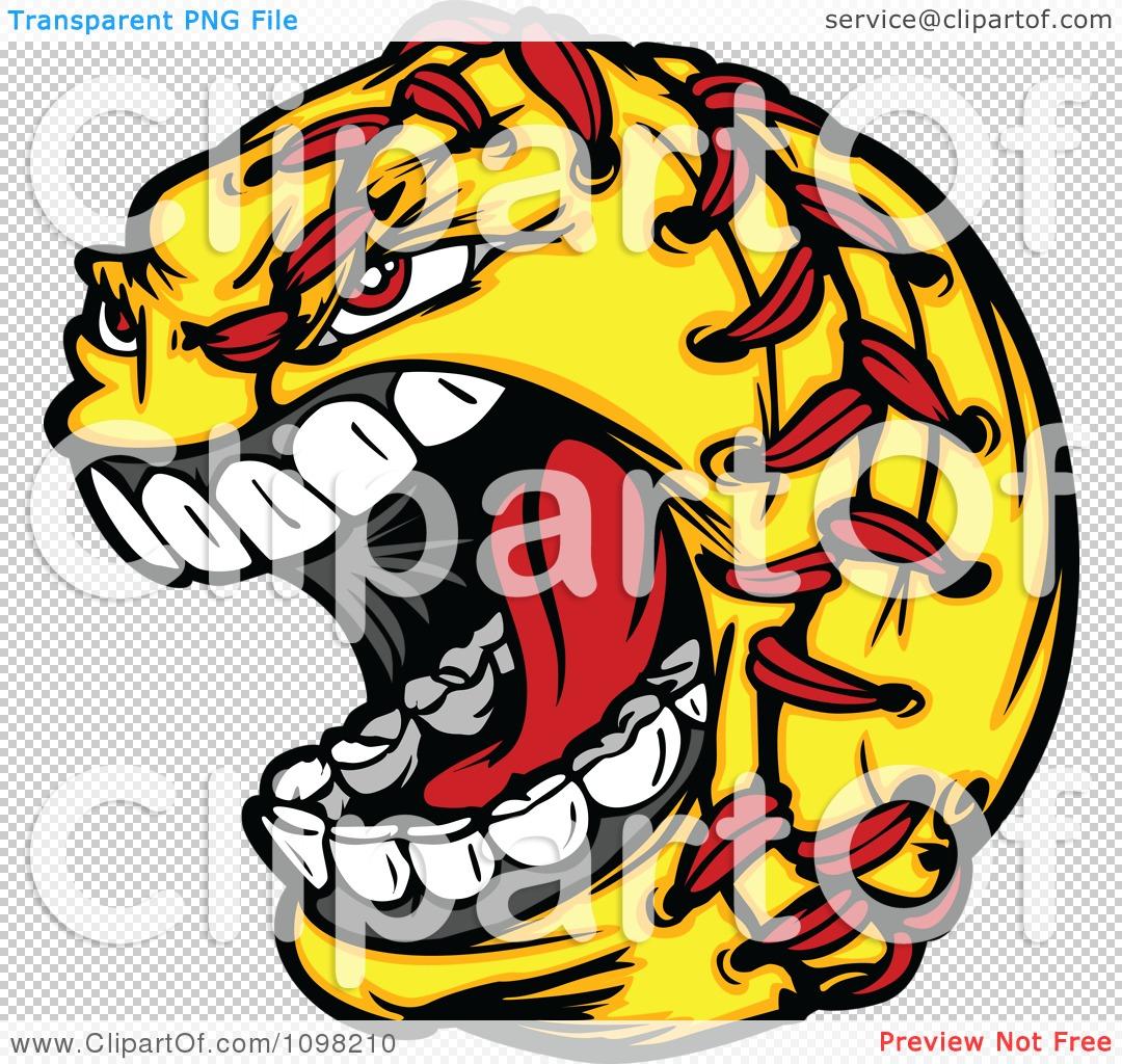 clipart aggressive screaming softball mascot royalty Baseball Crossed Bats Clip Art Black and White Crossed Bats SVG