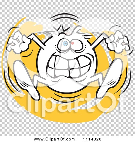 Clipart Angry Moodie Character Going Crazy - Royalty Free ...