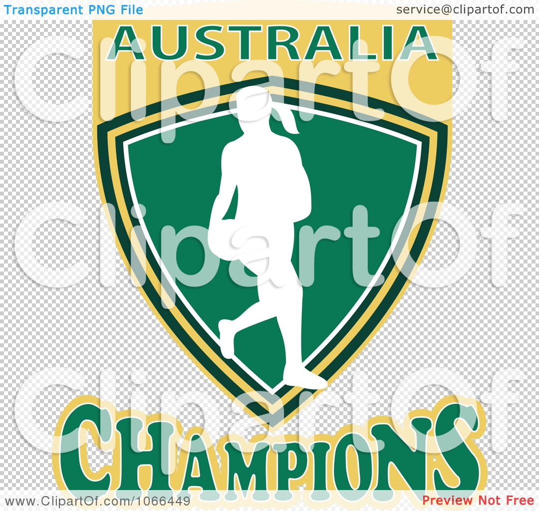 Clipart Australia Champions Netball Shield 1 - Royalty Free Vector ...