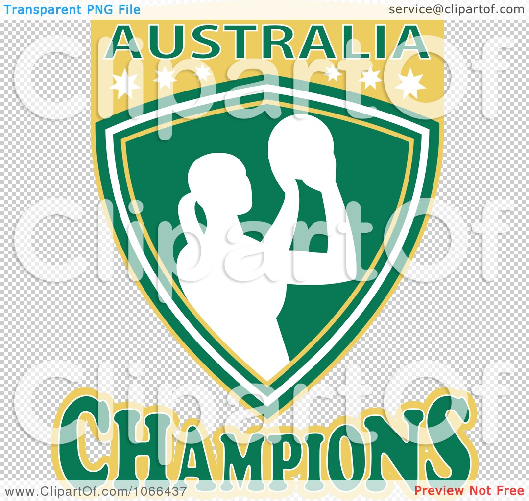 Clipart Australia Champions Netball Shield 2 - Royalty Free Vector ...