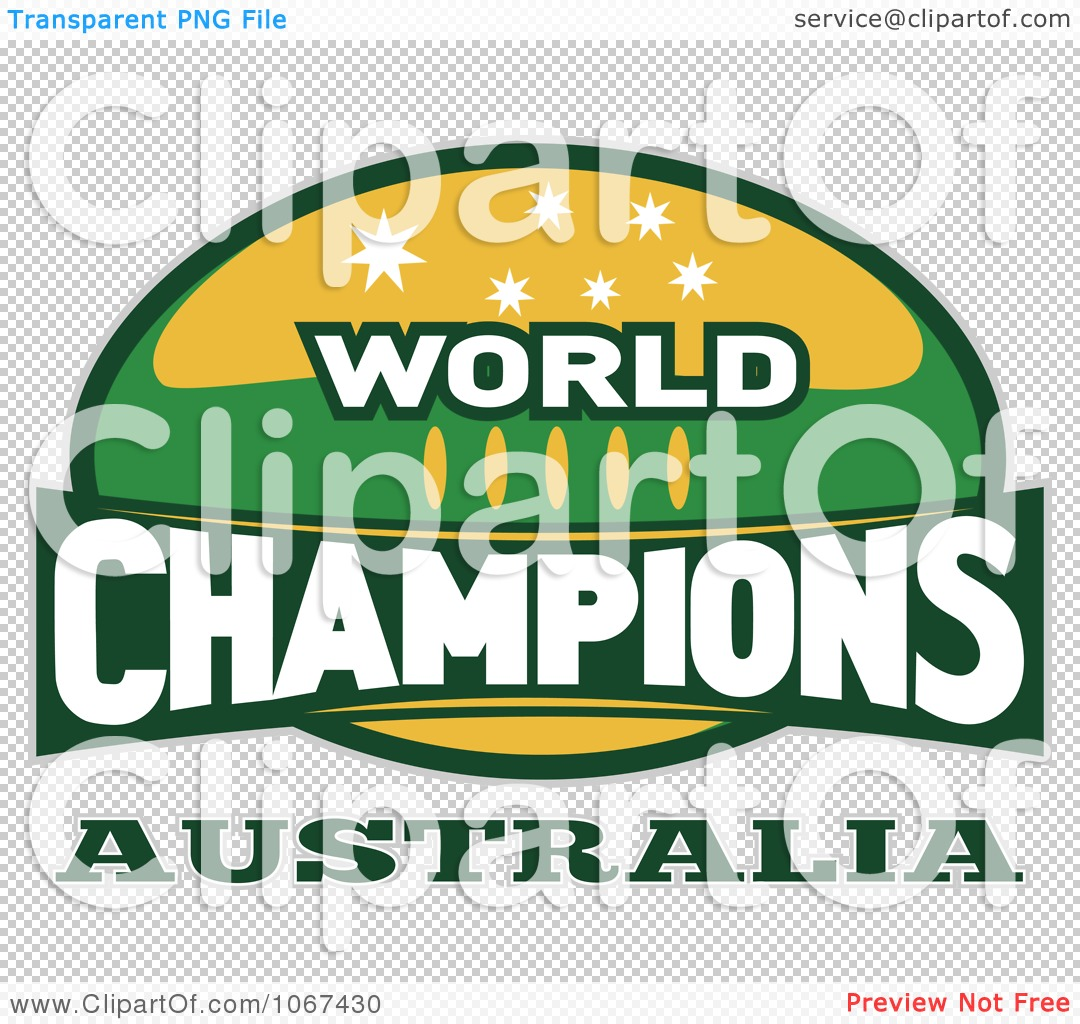 Clipart Australia Ruby World Champions Sign - Royalty Free Vector ...