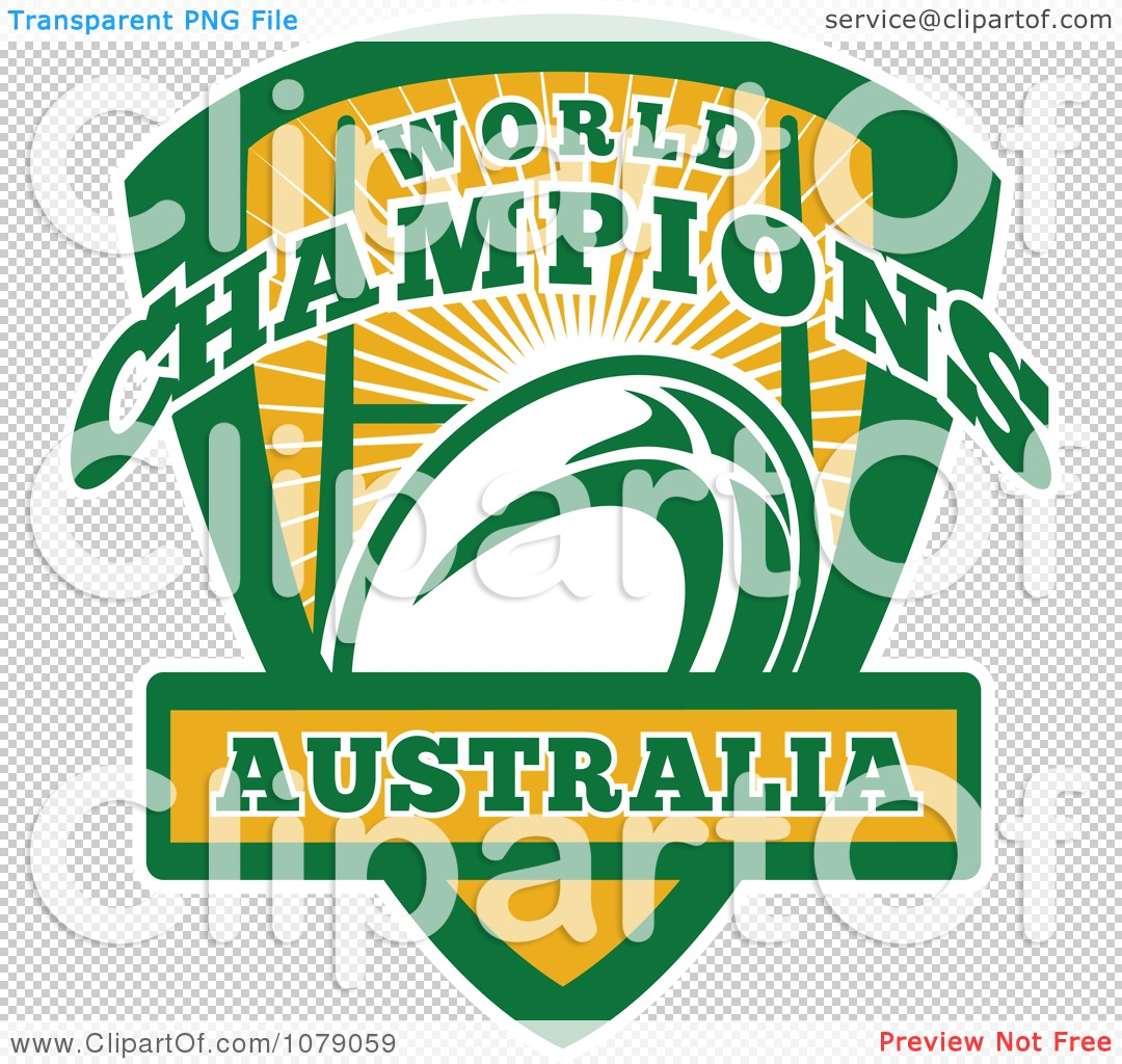 Clipart Australia World Champions Rugby Shield - Royalty Free ...