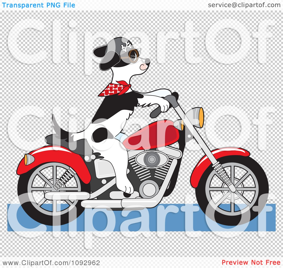 dog riding motorcycle clipart - photo #23